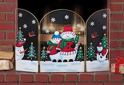 santa fireplace screen snowman fireplace screen from collections etc