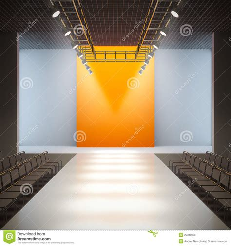 Fashion Empty Runway Royalty Free Stock Photos Image