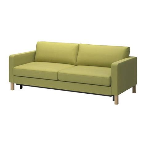ikea karlstad 3 seater sofa bed cover karlstad three seat sofa bed w storage sivik yellow green