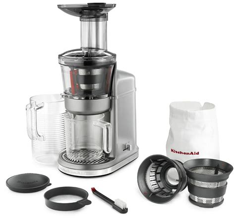silver kitchen accessories kitchenaid kvj0111cu maximum extraction juicer contour 2223
