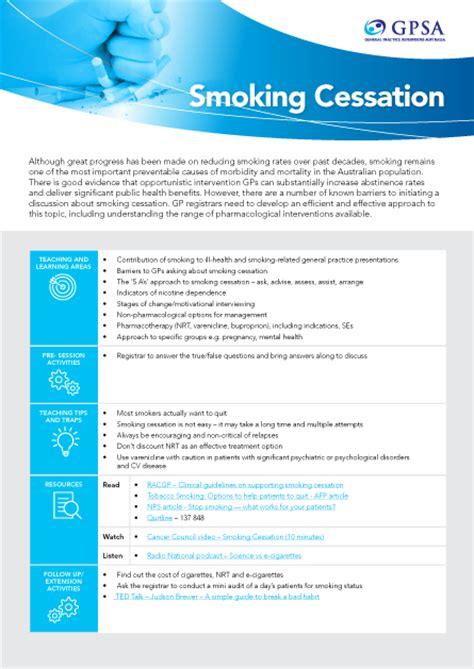 gpsa gp supervisors australia smoking cessation