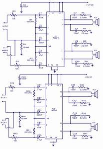 4 X 15 Watt Power Amplifier Circuit Diagram World