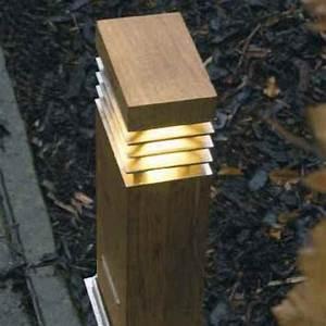 Holz ölen Außen : rechteckiger lichtpoller f r au en holz und edelstahl 40cm ~ Orissabook.com Haus und Dekorationen