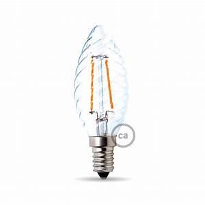 Filament Led E14 : ampoule filament led tortiglione 4w e14 claire ~ Markanthonyermac.com Haus und Dekorationen