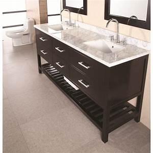 Design Elements London 72 U0026quot  Double Sink Vanity Set  Dec077b