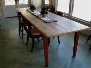 Long Rustic Dining Table With Painted Base - Lake and