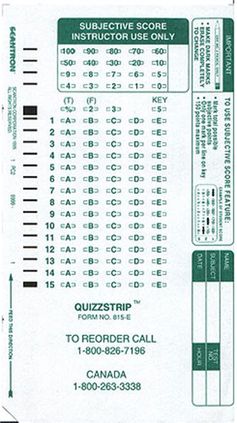 scantron    pack beaver bookstore