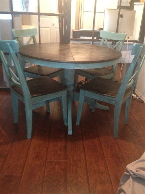 painted kitchen table ideas dining room set redo with chalk paint ideas google