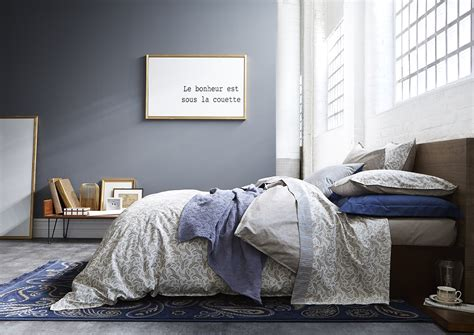 chambre grise et mauve chambre violet gris
