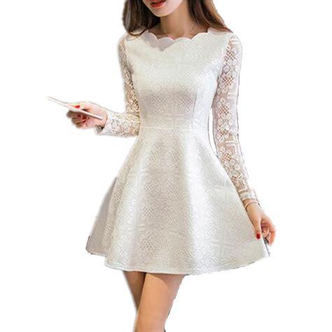 3 4 sleeve lace a line mini dress summer dresses 2017 autumn lace casual