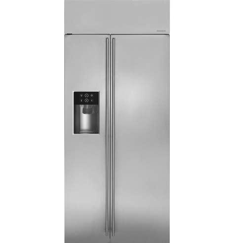 monogram  smart built  side  side refrigerator  dispenser zissdkss ge appliances
