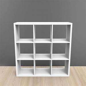 commode 9 cases With meuble 9 cases blanc 15 bibliothaque et etagare pas cher but fr