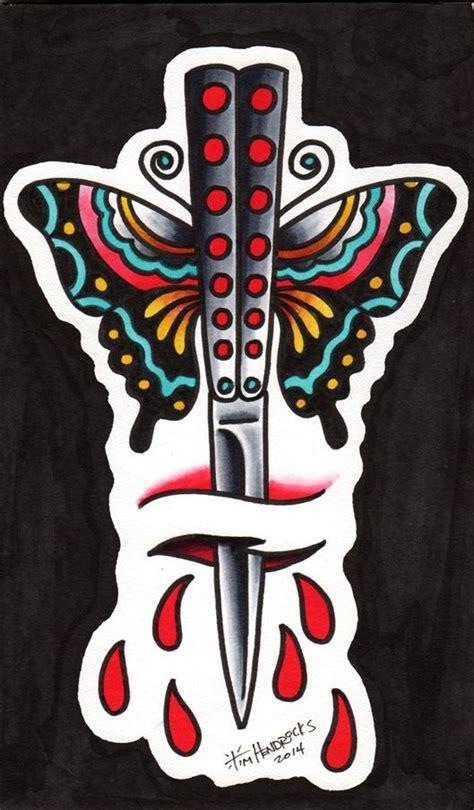 risultati immagini  butterfly knife tattoo tattoo ideas pinterest knife tattoo