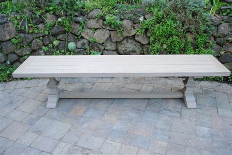 tuscany collection reclaimed teak bench pedestal base