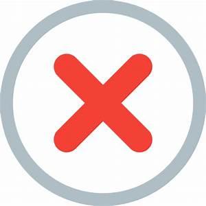 Alert, cancel, danger, error, exit, fault, problem icon ...