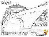 Cruise Ship Coloring Colouring Seas Ships Majesty Yescoloring Sheets Spectacular Cruises Printables sketch template