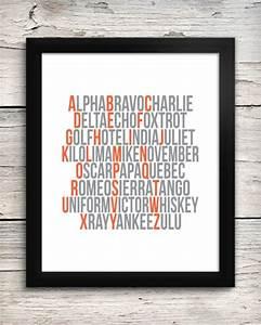 aviation alphabet print pilot39s phonetic by addisonandlake With aviation letter art