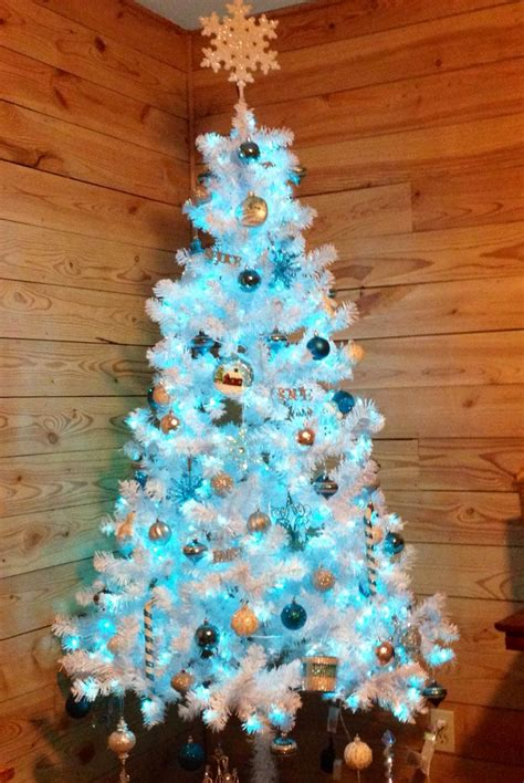 aqua blue christmas lights my first white tree with aqua turquoise silver white