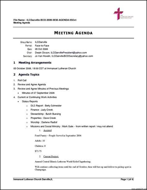 Agenda Outline Template Samples Vlashed