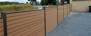 Panneaux Resine Imitation Pierre : cloture en bois composite petit grillage pas cher chromeleon ~ Melissatoandfro.com Idées de Décoration