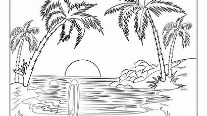 Coloring Pages Landscape Mountain Nature Winter Scenes