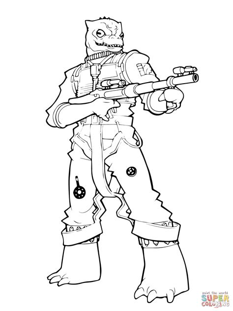 Bossk Coloring Page Free Printable Coloring Pages