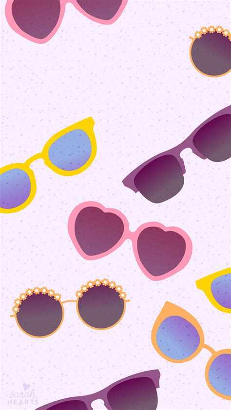 Adorable Iphone Summer Girly Wallpapers by Free Adorable Sunglasses Iphone Wallpaper By Sarahhearts