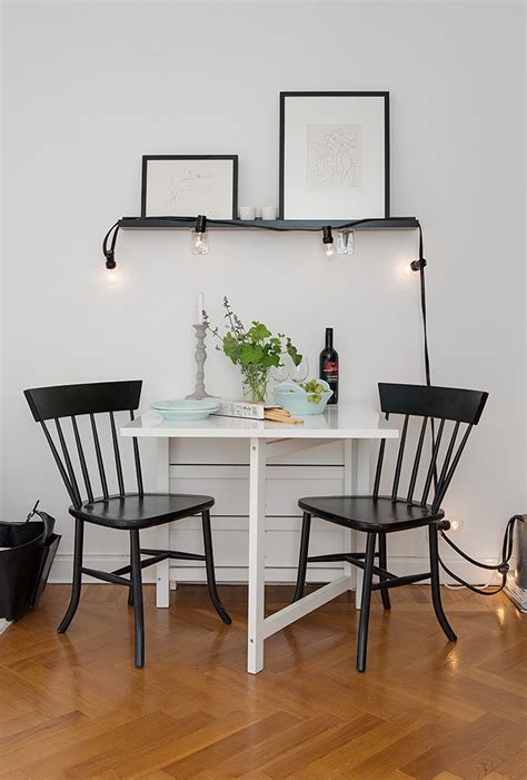 dining room small dining table black chairs tiny apartment in sweden enticing dining room sets
