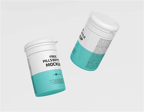 3,000+ vectors, stock photos & psd files. Floating Pill Bottle Mockup - mockupsfinder