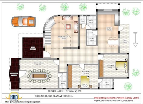 home plan com luxury indian home design with house plan 4200 sq ft