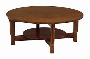 amish lancaster mission round coffee table with shelf With round mission coffee table