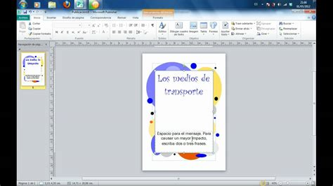 como trabajr con template en la compu tutorial de creaci 243 n de portadas con microsoft publisher
