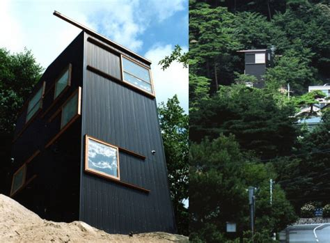 slope house japan mountainside design   floors