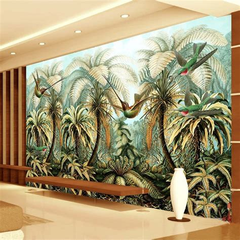 custom mural wallpaper  woven large hand painted wall