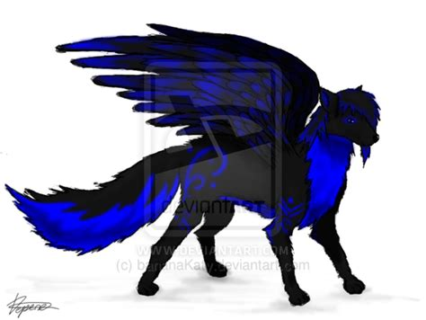 Wolves With Wings Drawing At Getdrawings.com