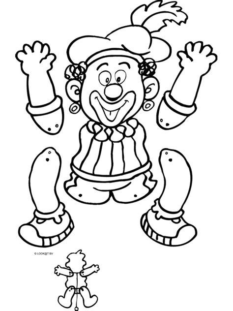 Kleurplaat Zwarte Piet Hoofd by Kleurplaat Zwarte Piet Trekpop Kleurplaten Nl