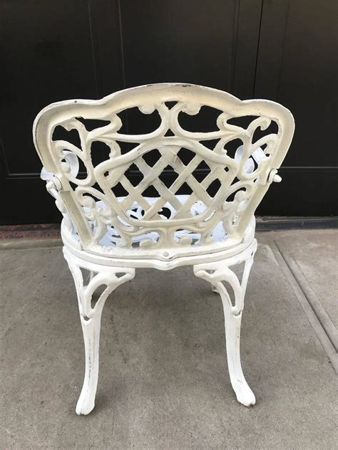 set of four early cast iron garden chairs for sale at 1stdibs