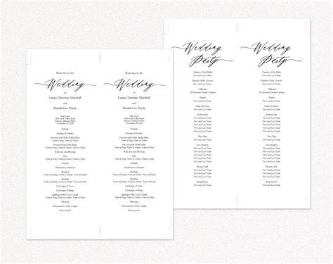 diy wedding programs 183 wedding templates and printables