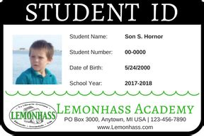 Homeschool Id Template by Student Id Card Template Free Sle 04
