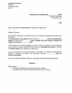 Document Pour Vente De Voiture : exemple gratuit de lettre d claration cession v hicule destruction ~ Gottalentnigeria.com Avis de Voitures