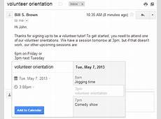Official Gmail Blog Add events to Google Calendar from Gmail