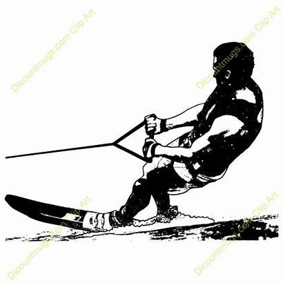 Water Skiing Clipart Slalom Clip Ski Waterskiing
