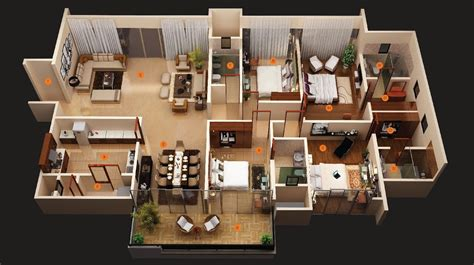 4 Room Home Design : Awesome 4 Bedroom House Plans