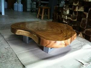 Live edge coffee table reclaimed acacia wood solid slab for Oak slab coffee table
