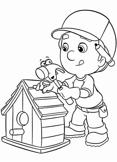 Coloring Tools Pages Manny Handy Bird Mechanic