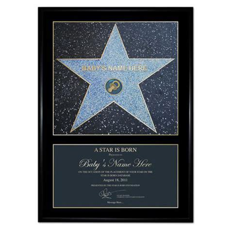 A 'Star is Born' Award Personalised Poster Gift Pack   IWOOT