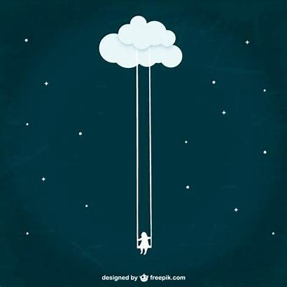 Dream Vectors Cloud Vector Swinging