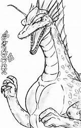 Titanosaurus Godzilla Coloring Deviantart Sketch Credit Larger sketch template