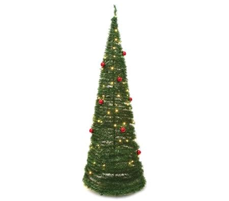 pop up christmas tree with led lights and baubles crazy
