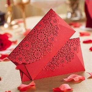 aliexpresscom buy red laser cut flower wedding With wedding invitation envelopes for sale